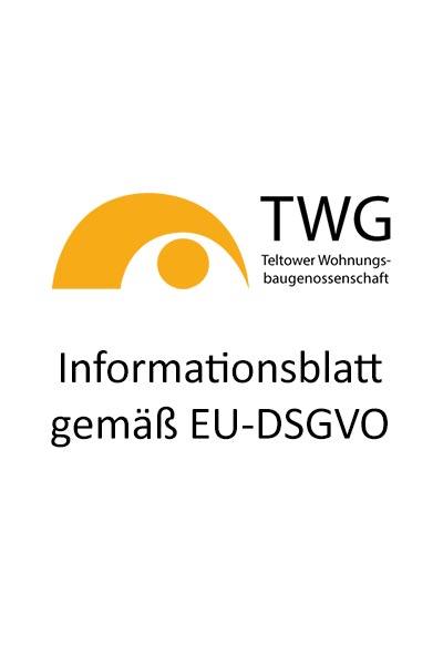 Informationsblatt gemäß EU-DSGVO